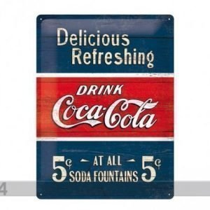 Nostalgic Art Retrotyylinen Metallijuliste Coca-Cola 5c Delicious Refreshing 30x40cm