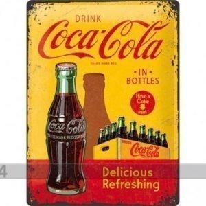 Nostalgic Art Retrotyylinen Metallijuliste Coca-Cola In Bottles 30x40 Cm