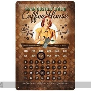 Nostalgic Art Retrotyylinen Metallijuliste Coffee House 20x30 Cm