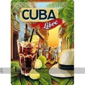 Nostalgic Art Retrotyylinen Metallijuliste Cuba Libre 30x40 Cm
