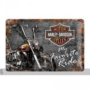 Nostalgic Art Retrotyylinen Metallijuliste Harley-Davidson My Favorite Ride 20x30 Cm