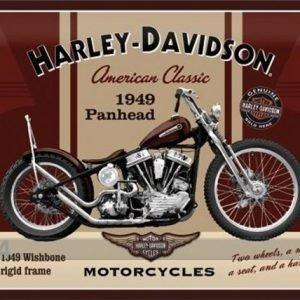 Nostalgic Art Retrotyylinen Metallijuliste Harley_davison Panhead 30x40 Cm
