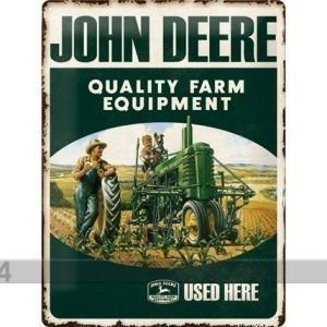 Nostalgic Art Retrotyylinen Metallijuliste John Deere Farm Equipment 30x40 Cm
