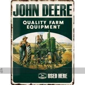 Nostalgic Art Retrotyylinen Metallijuliste John Deere Farm Equipment 30x40 Cm