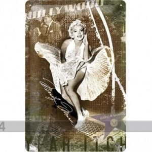 Nostalgic Art Retrotyylinen Metallijuliste Marilyn Monroe Hollywood 20x30 Cm