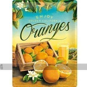 Nostalgic Art Retrotyylinen Metallijuliste Oranges 30x40 Cm