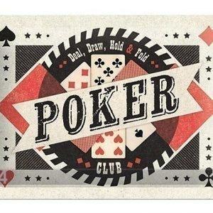 Nostalgic Art Retrotyylinen Metallijuliste Poker Club 15x20 Cm
