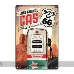 Nostalgic Art Retrotyylinen Metallijuliste Route 66 Last Chance Ga Station 20x30 Cm