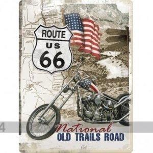 Nostalgic Art Retrotyylinen Metallijuliste Route 66 National Old Trails Road 30x40 Cm