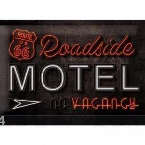 Nostalgic Art Retrotyylinen Metallijuliste Route 66 Roadside Motel 20x30 Cm