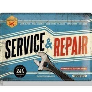 Nostalgic Art Retrotyylinen Metallijuliste Service & Repair 30x40 Cm