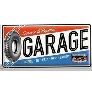 Nostalgic Art Retrotyylinen Metallijuliste Service & Repair Garage 25x50 Cm