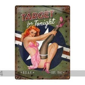 Nostalgic Art Retrotyylinen Metallijuliste Target For Tonignt 30x40 Cm