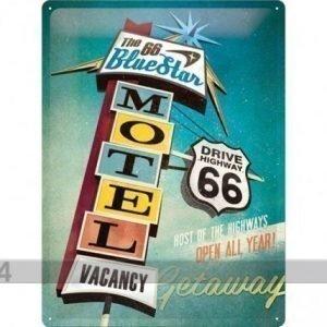 Nostalgic Art Retrotyylinen Metallijuliste The 66 Blue Star Motel 30x40 Cm