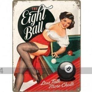 Nostalgic Art Retrotyylinen Metallijuliste The Eight Ball 30x40 Cm