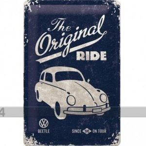 Nostalgic Art Retrotyylinen Metallijuliste Vw Beetle The Original Ride 20x30 Cm