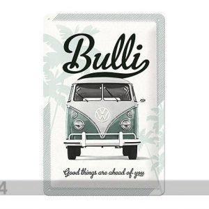 Nostalgic Art Retrotyylinen Metallijuliste Vw Bulli Good Things Are 20x30 Cm