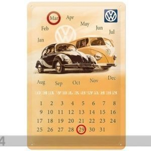 Nostalgic Art Retrotyylinen Metallijuliste Vw Der Volkswagen 20x30 Cm