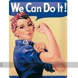 Nostalgic Art Retrotyylinen Metallijuliste We Can Do It! 15x20 Cm
