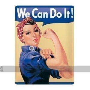 Nostalgic Art Retrotyylinen Metallijuliste We Can Do It! 30x40 Cm