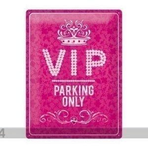 Nostalgic Art Retrotyylinen Metallijulistevip Parking Only Pink 30x40 Cm