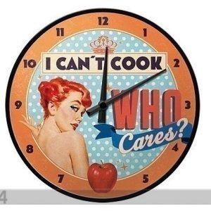 Nostalgic Art Retrotyylinen Seinäkello I Can´T Cook Who Cares?