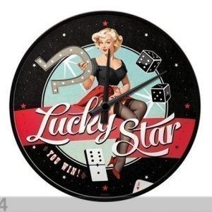 Nostalgic Art Retrotyylinen Seinäkello Lucky Star