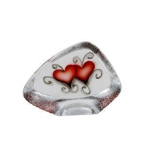 Nybro Crystal Block Heart
