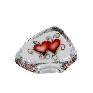Nybro Crystal Block Heart