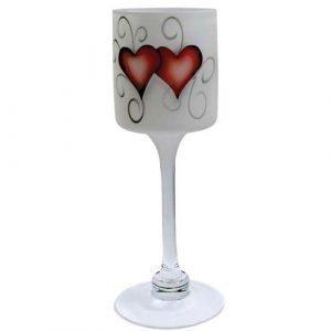 Nybro Crystal Heart Kynttilälyhty 30 Cm