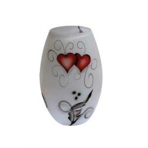 Nybro Crystal Heart Maljakko 20 Cm
