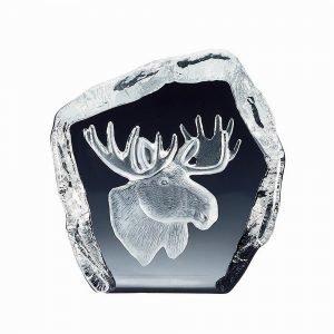 Nybro Crystal Sculptures Hirvenpää 105x105 Mm