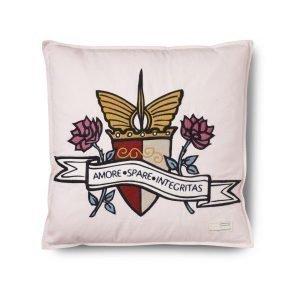 Odd Molly Home Code Of Arms Tyynynpäällinen Vaaleanpunainen 50x50 Cm