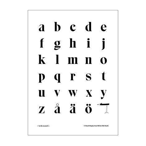 Olle Eksell Eksell Typografi Juliste Pienet Kirjaimet