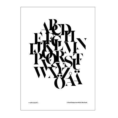Olle Eksell Eksell Typografi Juliste Sekoitus