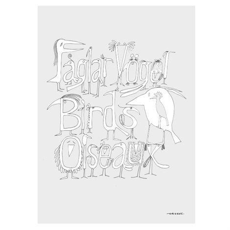 Olle Eksell Fåglar Juliste 50x70 cm