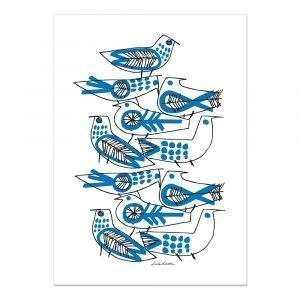 Opto Design Retro Birds Keittiöpyyhe 70x50 Cm