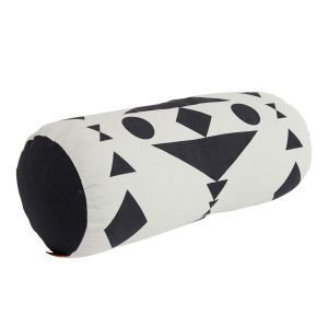 Oyoy Cylinder Tyyny Musta / Valkoinen Ø20x50 Cm