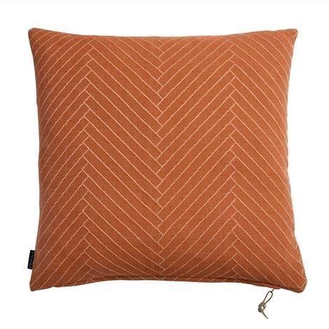 Oyoy Fluffy Herringbone Tyyny 50x50 cm Caramel Oranssi
