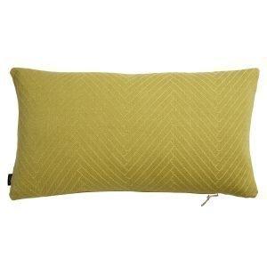Oyoy Fluffy Herringbone Tyyny Bamboo Yellow 40x70 Cm