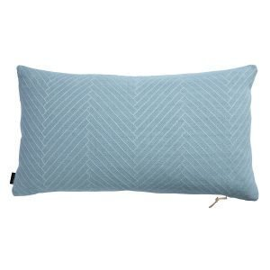 Oyoy Fluffy Herringbone Tyyny Dusty Aqua 40x70 Cm