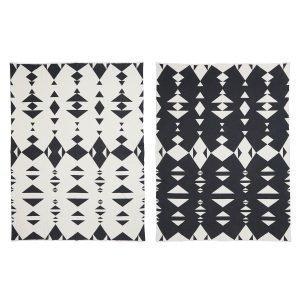 Oyoy Hopi Huopa Tummanharmaa / Valkoinen 120x160 Cm