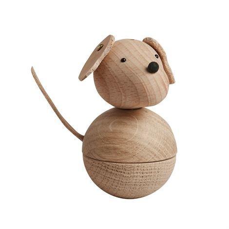 Oyoy Leika Dog Puuhahmo Pyökki-Tammi-Nahka