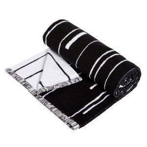 Oyoy Puun Pyyheliina Small Musta / Valkoinen 50x100 Cm