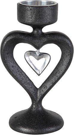 PR Home In my heart Kynttilänjalka Musta 16 cm