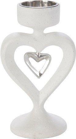 PR Home In my heart Kynttilänjalka Valkoinen 16 cm
