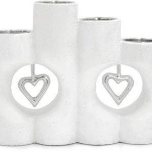 PR Home Kynttilänjalka 4 lämpökynttilä Valkoinen 17 cm