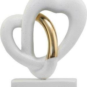 PR Home Love Flow Kivikoriste Valkoinen/Kulta 20cm