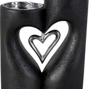 PR Home Love XL Kynttilänjalka Musta 24 cm