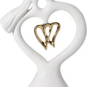PR Home Perfect Love Kivikoriste Valkoinen/Kulta 22cm